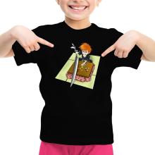 Funny  Girls Kids T-shirt - Ichigo with his Zanpakuto ( Parody) (Ref:131)