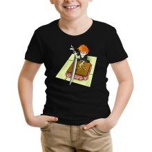 Funny  Kids T-Shirt - Ichigo with his Zanpakuto ( Parody) (Ref:131)