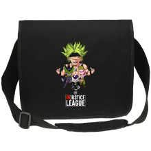 Sac bandoulière Canvas  parodique Broly, Cell, Freezer et Super Bou : DB INjustice League ! (Parodie )