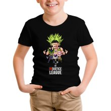 T-shirt Enfant  parodique Broly, Cell, Freezer et Super Bou : DB INjustice League ! (Parodie )
