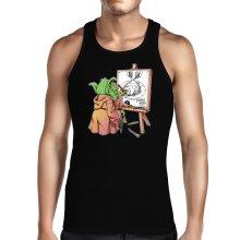 Débardeurs  parodique Eiichiro Yoda dessinant Luffy... à l