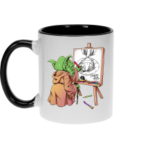 Mugs  parodique Eiichiro Yoda dessinant Luffy... à l