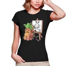 T-shirts Femmes  parodique Eiichiro Yoda dessinant Luffy... à l