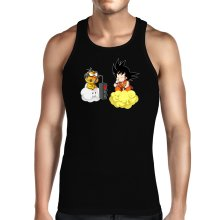 Funny Tank Tops - Son Goku and Lakitu ( Parody)