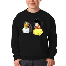 Funny Kids Sweater - Son Goku and Lakitu ( Parody)