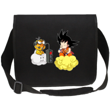 Funny Canvas Messenger Bags - Son Goku and Lakitu ( Parody)