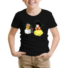 Funny T-Shirts - Son Goku and Lakitu ( Parody)