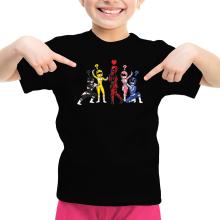 T-shirts  parodique Power Rangers Vs Deadpool : Force Rouge !! (Parodie )