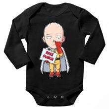 Body bébé manches longues  parodique Saitama : Free Punch ! (Parodie )