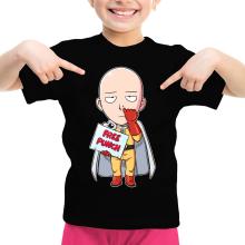 T-shirt Enfant Fille  parodique Saitama : Free Punch ! (Parodie )