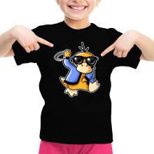 T-shirt Enfant Fille  parodique Psykokwak réalisant le Gangnam Style : Gangduck Style by Psyko :) (Parodie )