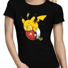 T-shirts Femmes  parodique Pikachu et Sasha : Grrrr, Vengeance !!!! :) (Parodie )