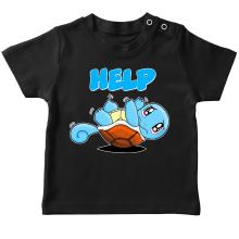 T-shirt bébé  parodique Carapuce : Help !!! (Parodie )