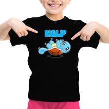Funny  Girls Kids T-shirt - Squirtle ( Parody) (Ref:359)