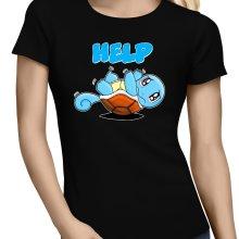 T-shirts Femmes  parodique Carapuce : Help !!! (Parodie )