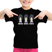 T-shirt Enfant Fille  parodique Sasuke Uchiwa : L