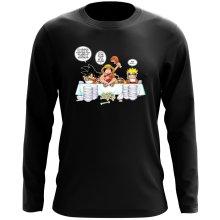 T-Shirt à manches longues  parodique Naruto, Sangoku et Luffy : La recette d