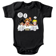 Body bébé  parodique Luffy, Naruto et Sangoku : La recette d