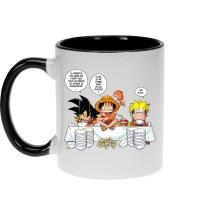 Mugs  parodique Luffy, Naruto et Sangoku : La recette d