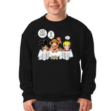Sweat-shirts  parodique Luffy, Naruto et Sangoku : La recette d