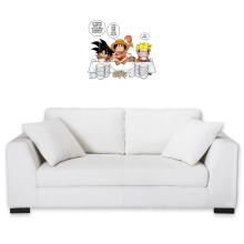 Décorations murales  parodique Luffy, Naruto et Sangoku : La recette d