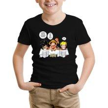 T-shirts  parodique Luffy, Naruto et Sangoku : La recette d