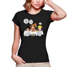 T-shirts Femmes  parodique Luffy, Naruto et Sangoku : La recette d