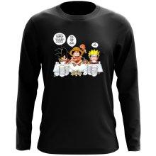 T-Shirt à manches longues  parodique Luffy, Naruto et Sangoku : La recette d