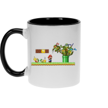Mugs  parodique Leonardo, Raphael, Donatello, Michelangelo et Mario : La revanche des Tortues (Super Deformed Edition) (Parodie )