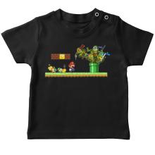 T-shirts  parodique Leonardo, Raphael, Donatello, Michelangelo et Mario : La revanche des Tortues (Super Deformed Edition) (Parodie )
