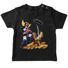 T-shirts (French Days)  parodique Goldorak - Astéro-hache : Le Bûcheron de l