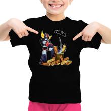 T-shirts  parodique Goldorak - Astéro-hache : Le Bûcheron de l
