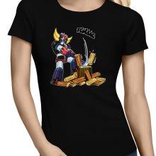 T-shirts Femmes  parodique Goldorak - Astéro-hache : Le Bûcheron de l