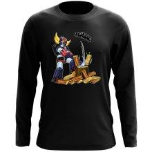 T-Shirts à manches longues (French Days)  parodique Goldorak - Astéro-hache : Le Bûcheron de l