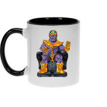 Mugs  parodique Thanos de Avengers et Beerus de Dragon Ball Super : Le Dieu de la destruction... et son chat ! (Parodie )