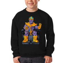 Sweat-shirts  parodique Thanos de Avengers et Beerus de Dragon Ball Super : Le Dieu de la destruction... et son chat ! (Parodie )