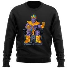 Pull  parodique Thanos de Avengers et Beerus de Dragon Ball Super : Le Dieu de la destruction... et son chat ! (Parodie )