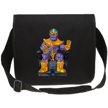 Sacs bandoulière Canvas  parodique Thanos de Avengers et Beerus de Dragon Ball Super : Le Dieu de la destruction... et son chat ! (Parodie )