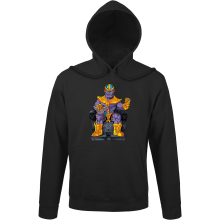 Sweats à capuche  parodique Thanos de Avengers et Beerus de Dragon Ball Super : Le Dieu de la destruction... et son chat ! (Parodie )