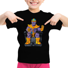 T-shirts  parodique Thanos de Avengers et Beerus de Dragon Ball Super : Le Dieu de la destruction... et son chat ! (Parodie )