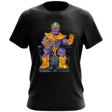 T-shirt  parodique Thanos de Avengers et Beerus de Dragon Ball Super : Le Dieu de la destruction... et son chat ! (Parodie )