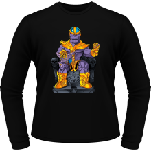 T-Shirts à manches longues  parodique Thanos de Avengers et Beerus de Dragon Ball Super : Le Dieu de la destruction... et son chat ! (Parodie )