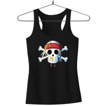 Débardeurs  parodique Luffy et Jack Sparrow : Le Drapeau Pirate du Capitaine Jack à la Sauce Manga :) (Parodie )