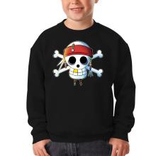 Sweat-shirts  parodique Luffy et Jack Sparrow : Le Drapeau Pirate du Capitaine Jack à la Sauce Manga :) (Parodie )