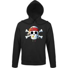 Sweats à capuche  parodique Luffy et Jack Sparrow : Le Drapeau Pirate du Capitaine Jack à la Sauce Manga :) (Parodie )