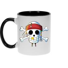 Mugs  parodique Luffy et Jack Sparrow : Le Drapeau Pirate du Capitaine Jack à la Sauce Manga :) (Parodie )