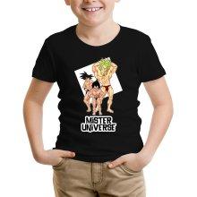 T-shirts  parodique Sangoku, Végéta et Broly : Le grand Concours de Mister Univers ! (Parodie )