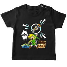 T-shirt bébé  parodique Link et les Aliens : Le Grappin... !! (Parodie )