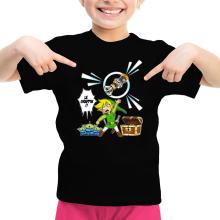 T-shirt Enfant Fille  parodique Link et les Aliens : Le Grappin... !! (Parodie )