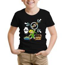 T-shirt Enfant  parodique Link et les Aliens : Le Grappin... !! (Parodie )